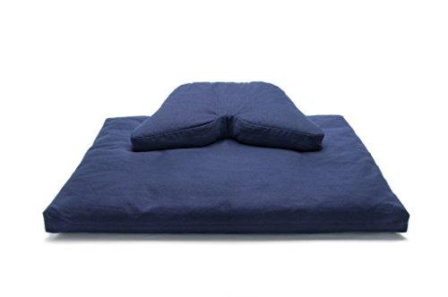 Navy Blue Kapok Regular Lift Cosmic Cushion & Cotton Batting Zabuton Meditation Cushion Set Review