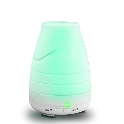 Air Purifiers 100ML aroma diffuser Aromatherapy Essential Oil Diffuser Portable Ultrasonic Diffusers with Color LED Lights Changing and Waterless Auto Shut-off Function