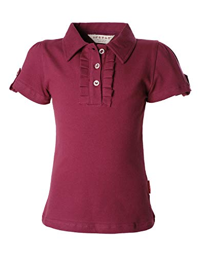 - Ipuang Big Girl Short Sleeve Cotton Ruffle Polo Shirt Top 8 Burgundy