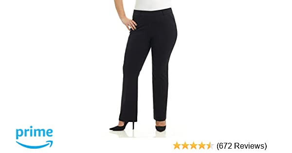 Rekucci Curvy Woman Ease in to Comfort Fit Barely Bootcut Plus Size Pant at  Amazon Women s Clothing store  e2a2af38f22c