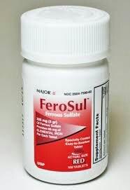 [PACK 3] FeroSul ® sulfato de ferroso 325mg (5 gr) cubierta fácil de tragar 100 CT. comprimidos (rojo)
