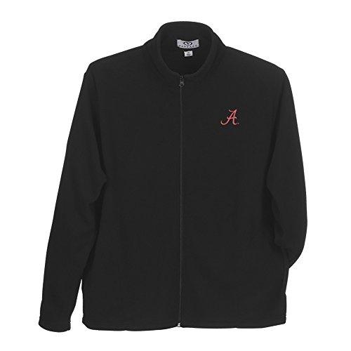 Alabama Crimson Tide Performance Full Zip Fleece Jacket Black