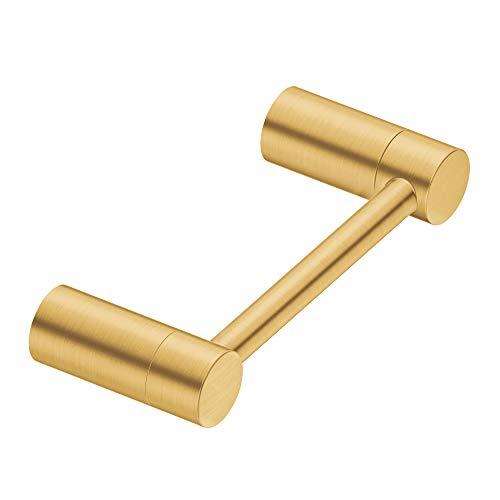 (Moen YB0408BG Align Pivoting Double Post Modern Toilet Paper Holder, Brushed Gold)