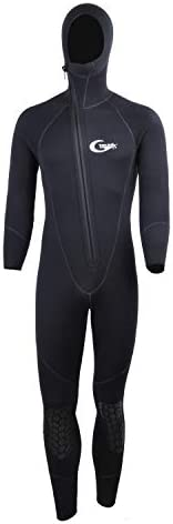 Full Wetsuits-5mm 3mm Wetsuit-Mens Neoprene Diving Suit Front Zipper Hoodie Snorkeling Surfing Suits High Elas