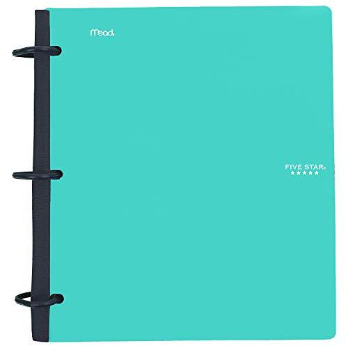 Five Star Flex Hybrid Notebinder, 1-1/2 Inch Binder, Notebook and Binder All-in-One, Teal (38681)