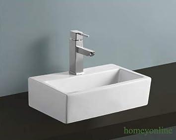 Badezimmer Waschbecken Rechteckig Keramik Wandbefestigung Oder