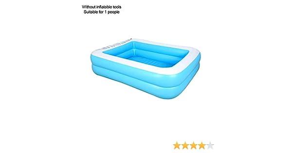 Piscina hinchable rectangular, PVC grueso, piscina interior para bebés, piscina de PVC, para interior y exterior, para niños y adultos, 110cm zweiter Ringpool: Amazon.es: Hogar