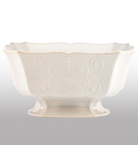 Lenox French Perle White Large Serving Bowl - 10.5 Inch