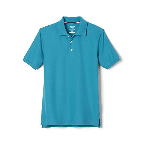 French Toast Big Boys' Short Sleeve Pique Polo, Teal, 10 Boys Original Pique Polo Shirt