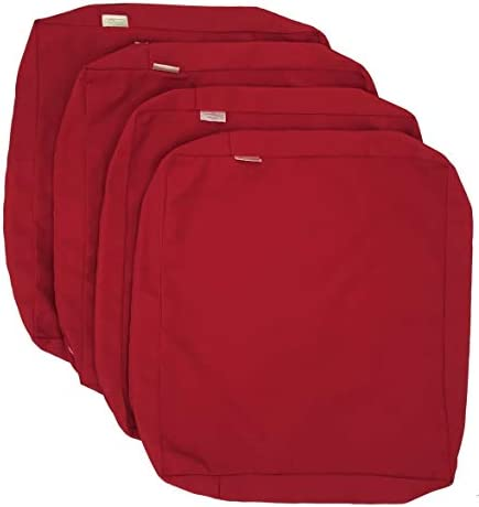 CozyLounge Lava Red Outdoor Water Repellent Patio Chair Cushion Seat Pillow Covers ONLY 24 x24 x4 4 Covers