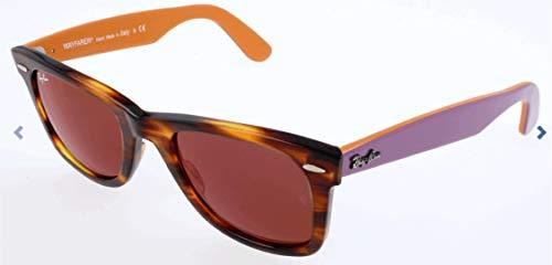 Ray-Ban RB2140 Wayfarer Sunglasses, Havana/Brown Mirror Dark Red, 50 ()