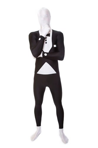 Morphsuit Accessories (Deluxe Tuxedo Skintight Bodysuit Morphsuits Size Medium)