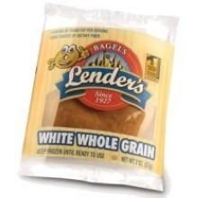 Lenders White Whole Grain Bagel, 2 Ounce -- 72 per case.