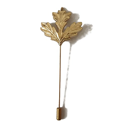 Sunny Home Men's Maple Leaf Golden Lapel Stick Brooch Pin for Suit - Maple Leaf Pin Brooch