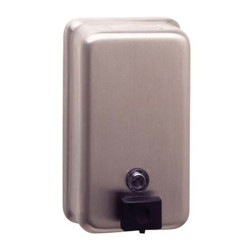- Bobrick 2111 ClassicSeries Surface-Mounted Soap Dispenser, 40oz, Stainless Steel