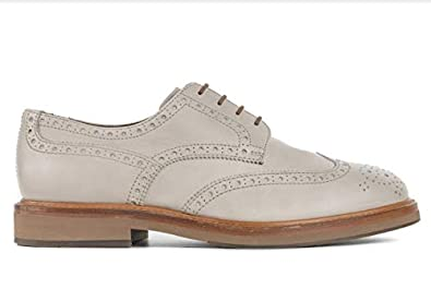 e2f03d09f092e Image Unavailable. Image not available for. Color  Brunello Cucinelli Men  Grey Weathered Leather Wing Tip Oxford