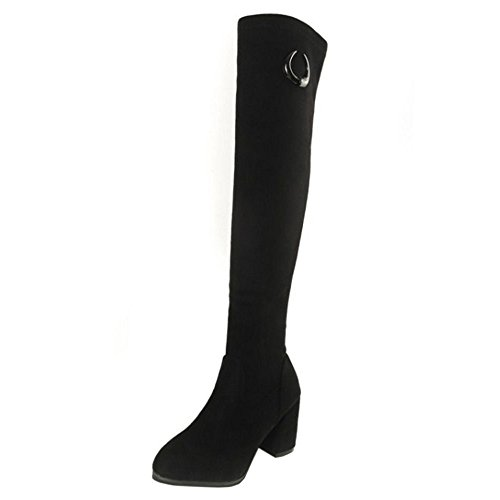 Stylish 1 Women KemeKiss Black Long Boots 5vP7X8q