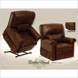 - Catnapper Vintage Leather Touch Power Lift Recliner Chair in Tobacco