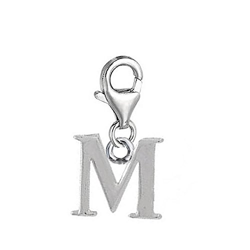 Dangling Letters Clip on Pendant Charm for Bracelet or Necklace