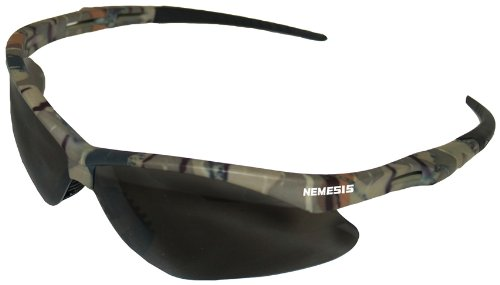 12 Pack Jackson Safety 3020707 V30 Nemesis Safety Glasses Camo Frame / Smoke Anti-Fog Lens(22609) by Allsafe Services & Materials