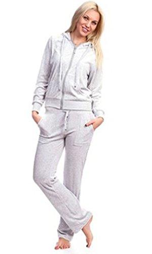 Vanilla Inc - Sudadera con capucha - Manga Larga - para mujer gris
