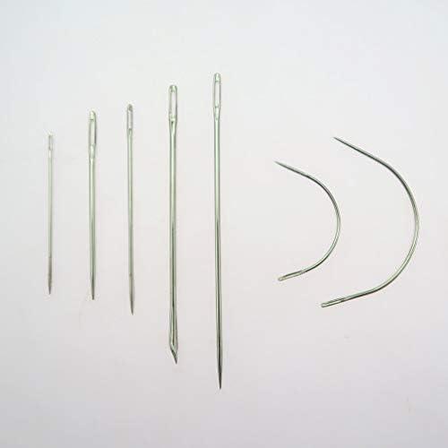 Bonarty 10 St/ücke DIY Lederhandwerk Werkzeuge Hand N/ähnadeln Awl Wachsfaden /&