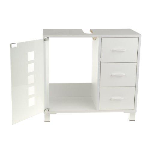 Waschtischunterschrank holz weiß  Limal Waschtischunterschrank mit 3 Schubladen Holz weiß, 30 x 60 x ...