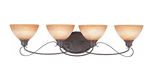 Volume Lighting V2664-53 Altamonte 4 Light Frontier Iron Bathroom Vanity Light