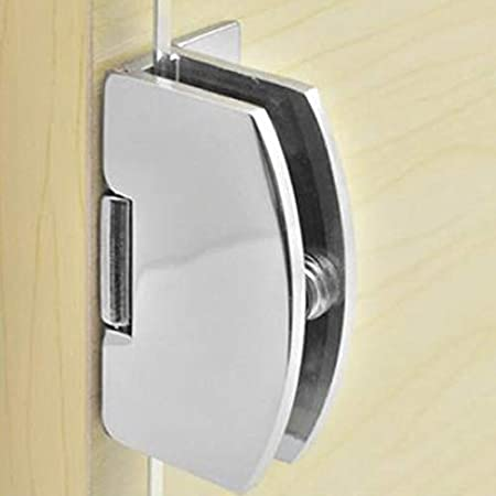 1 X Frameless Bracket Glass Shower Door Hinge Wall Mount Hinge Tools Accessory Color: Silver