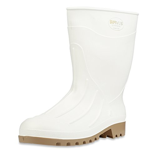 Servus 12'' PVC Polyblend Soft Toe Shrimp Boots, White (74928) by Honeywell
