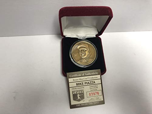 - Mike Piazza Bronze Medallion Limited Edition Mint Coin Los Angeles Dodgers from the Highland Mint and is serial numbered to 25,000