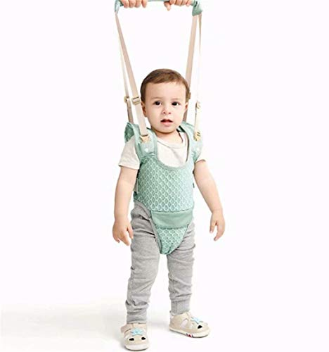 LOSOUL Handheld Baby Walking Harness for Kids, Adjustable Toddler Walking Assistant with Detachable Crotch&Bib, Safe Standing & Walk Learning Helper for 8 Months Baby