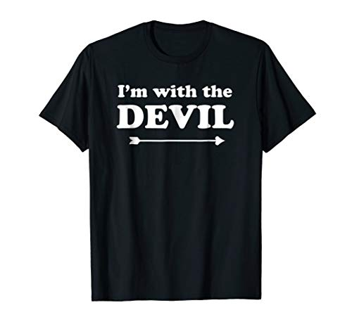 Cute Halloween I'm with the Devil Couple Shirt Family costum ()