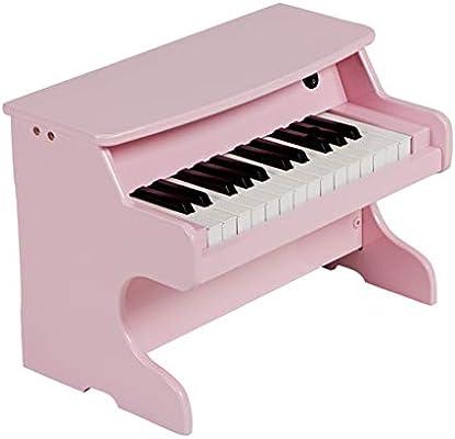 DUWEN Piano para niños, de madera, multifuncional, 25 teclas, órgano electrónico, juguete para principiantes. (Color : Pink)