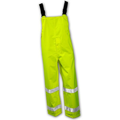 Tingley Rubber O24122 Icon Bib Overalls with Reference Tape, XX-Large, Lime Green