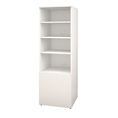 Bookcase Component - Nexera Arobas 600203 Bookcase/Audio Tower from, White