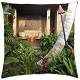 Gorgeous Zen Retreat Hawaiian Garden with tropical plants and flowers - Kauai - Throw Pillow Cover Case (18 (Retreat Tropical)