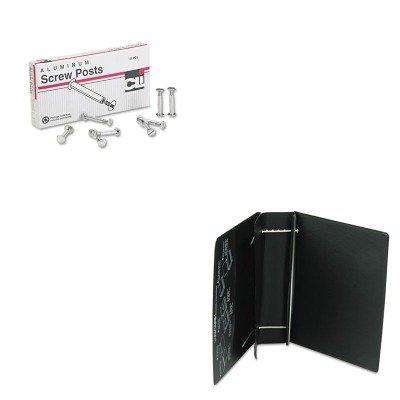 KITLEO3706LLEO61601 - Value Kit - Charles Leonard Varicap6 Expandable 1 To 6 Post Binder (LEO61601) and Charles Leonard Post Binder Aluminum Screw Posts (LEO3706L)
