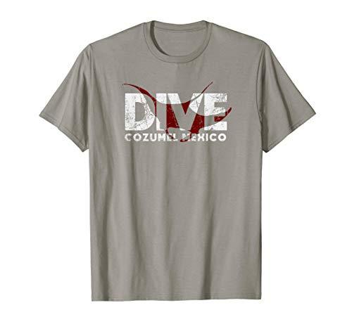 DIVE Cozumel Mexico SCUBA Diver Manta Ray Diving T-Shirt