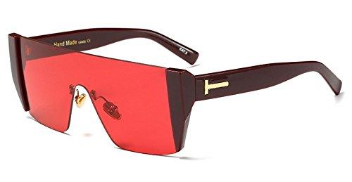 De LEN Gafas Gafas Sobredimensionado De Len Hembra Hembra Blue Gafas NEGRO Sol Cerco Solsin W Sol Limotai W ROJO C7 De Azul Hombre Cuadrada Grande C9 Y0xdCwq44