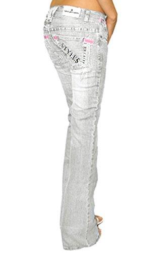 bestyledberlin - Vaqueros - Bootcut - para mujer gris