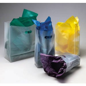 Coloured Frosted Shopper - Frosted Clear Shopping Bags 16 x 15 Case of 250