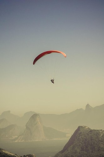 Gifts Delight Laminated 24x36 inches Poster: Rio De Janeiro Olympics 2016 NiterÌ_I Brazil Christ The Redeemer Mountains Bay City Park City Paragliding