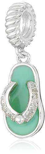 Chamilia Sterling Silver and Swarovski Zirconia Toes in the Sand Bead Charm by Chamilia