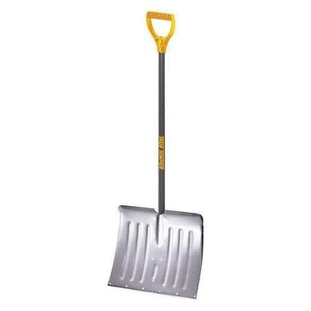 Snow Shovel, Aluminum Blade, Steel Handle by True Temper