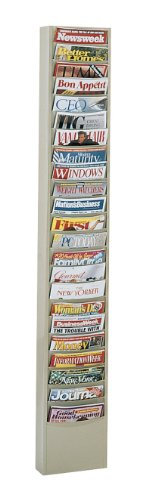 Durham 401-54 Putty Cold Rolled Steel 23 Contour Pocket Vertical Literature Rack, 9-3/4