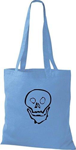 Shirtinstyle - Bolso de tela de algodón para mujer - surf blue
