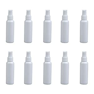 Tenflyer 100ml Empty Perfume Cosmetic Atomizers Sprayer Plastic Spray Bottles (10 pcs)