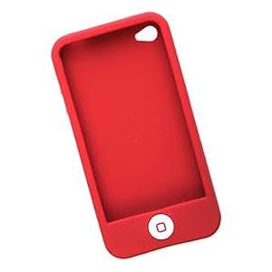 MOFY- Carcasa de Protecci-n de Silicona para el iPhone 4 - Roja