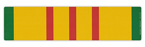 Magnetic Bumper Sticker - Vietnam War Service Ribbon - Conflict Service Bar - 10